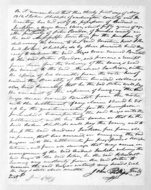 John Phillips, May 31, 1816
