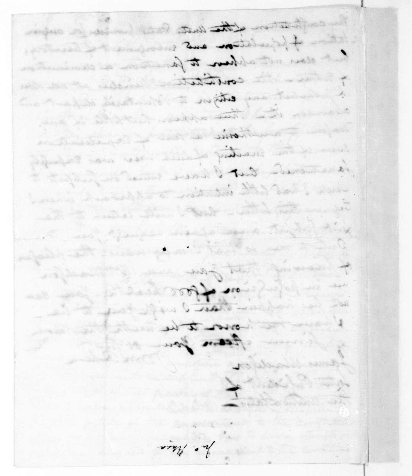 John Rhea to James Madison, March 30, 1816.