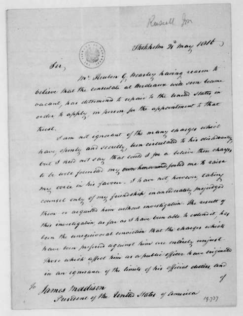 John Russell to James Madison, May 21, 1816.