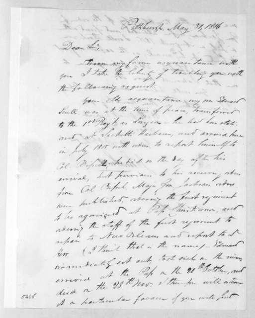 John Scull to Robert Butler, May 31, 1816