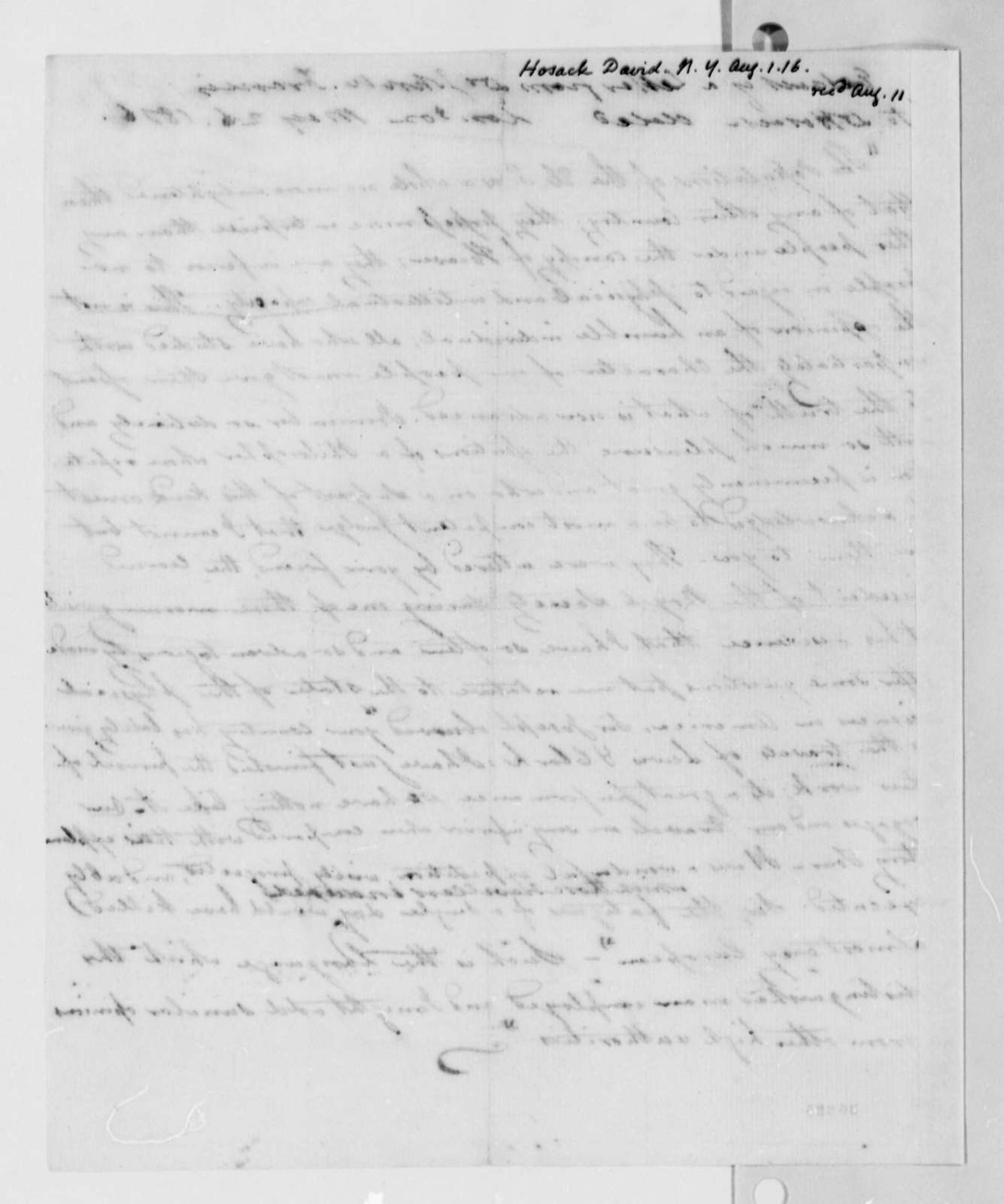 John W. Francis to David Hosack, May 26, 1816