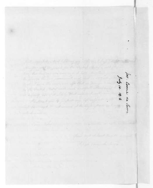 Joseph Correa de Serra to James Madison, July 10, 1816.