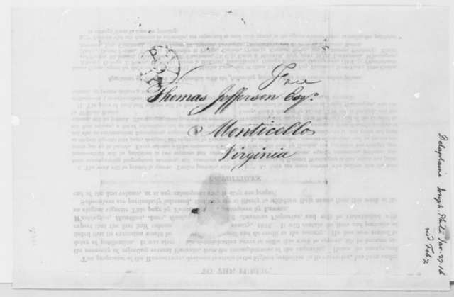 Joseph Delaplaine to Thomas Jefferson, January 27, 1816, Written on Broadside