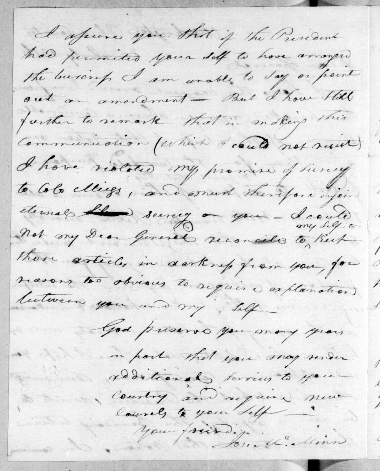 Joseph McMinn to Andrew Jackson, July 25, 1816