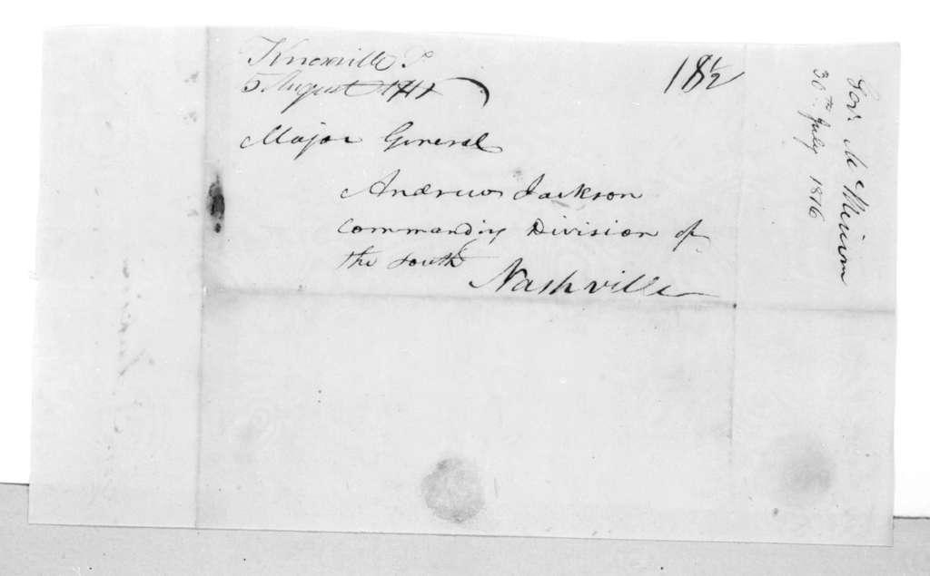 Joseph McMinn to Andrew Jackson, July 30, 1816