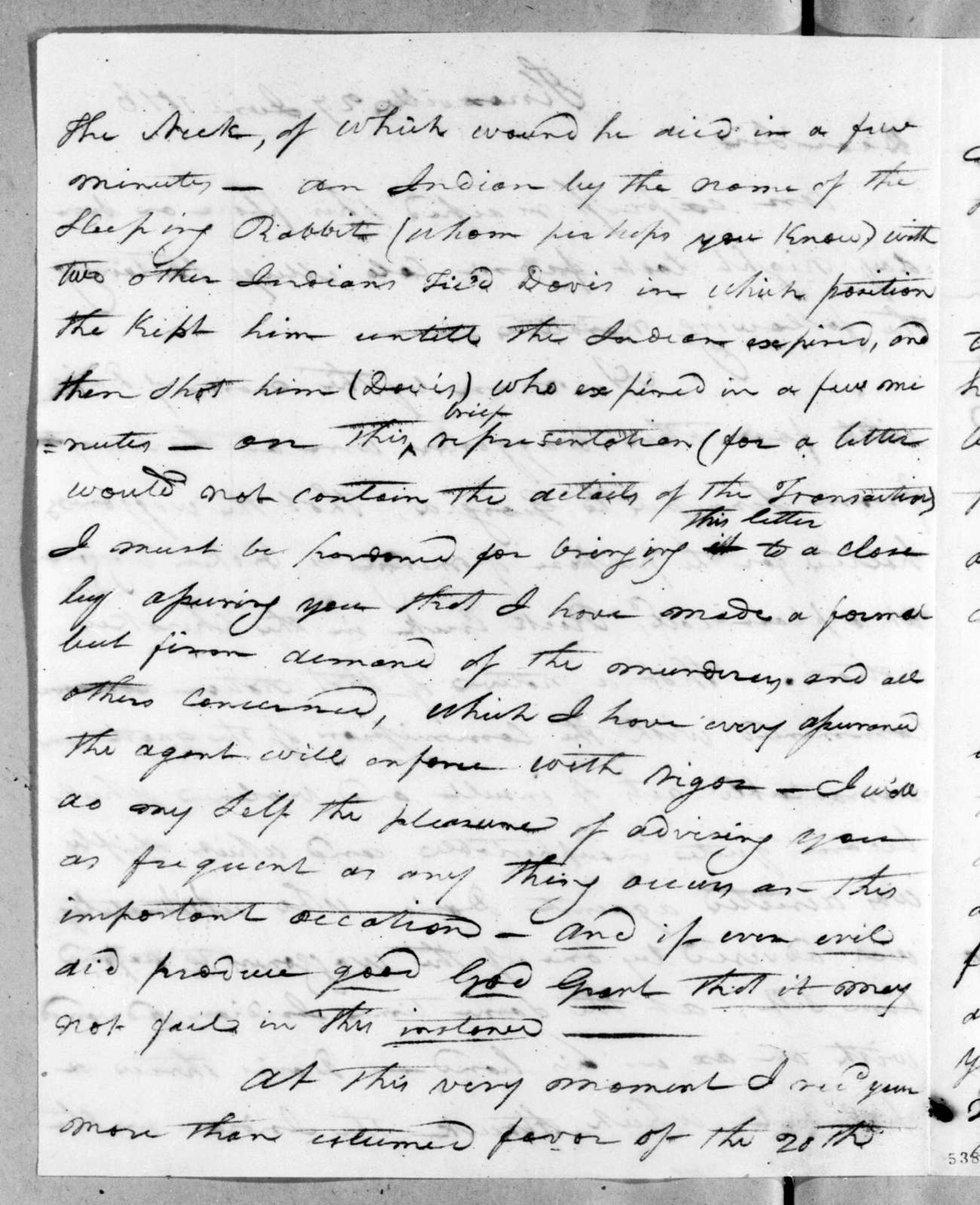 Joseph McMinn to Andrew Jackson, June 27, 1816