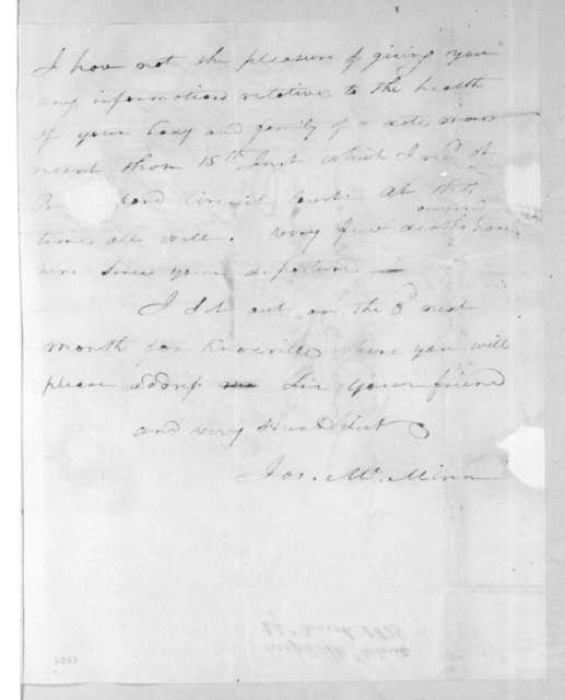 Joseph McMinn to Andrew Jackson, March 29, 1816