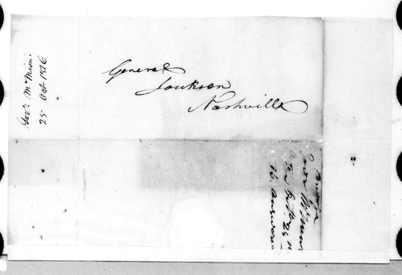 Joseph McMinn to Andrew Jackson, October 25, 1816