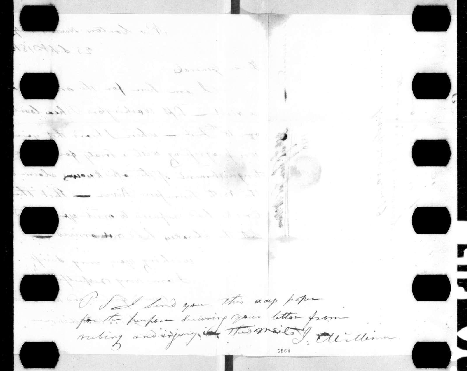 Joseph McMinn to Andrew Jackson, September 25, 1816