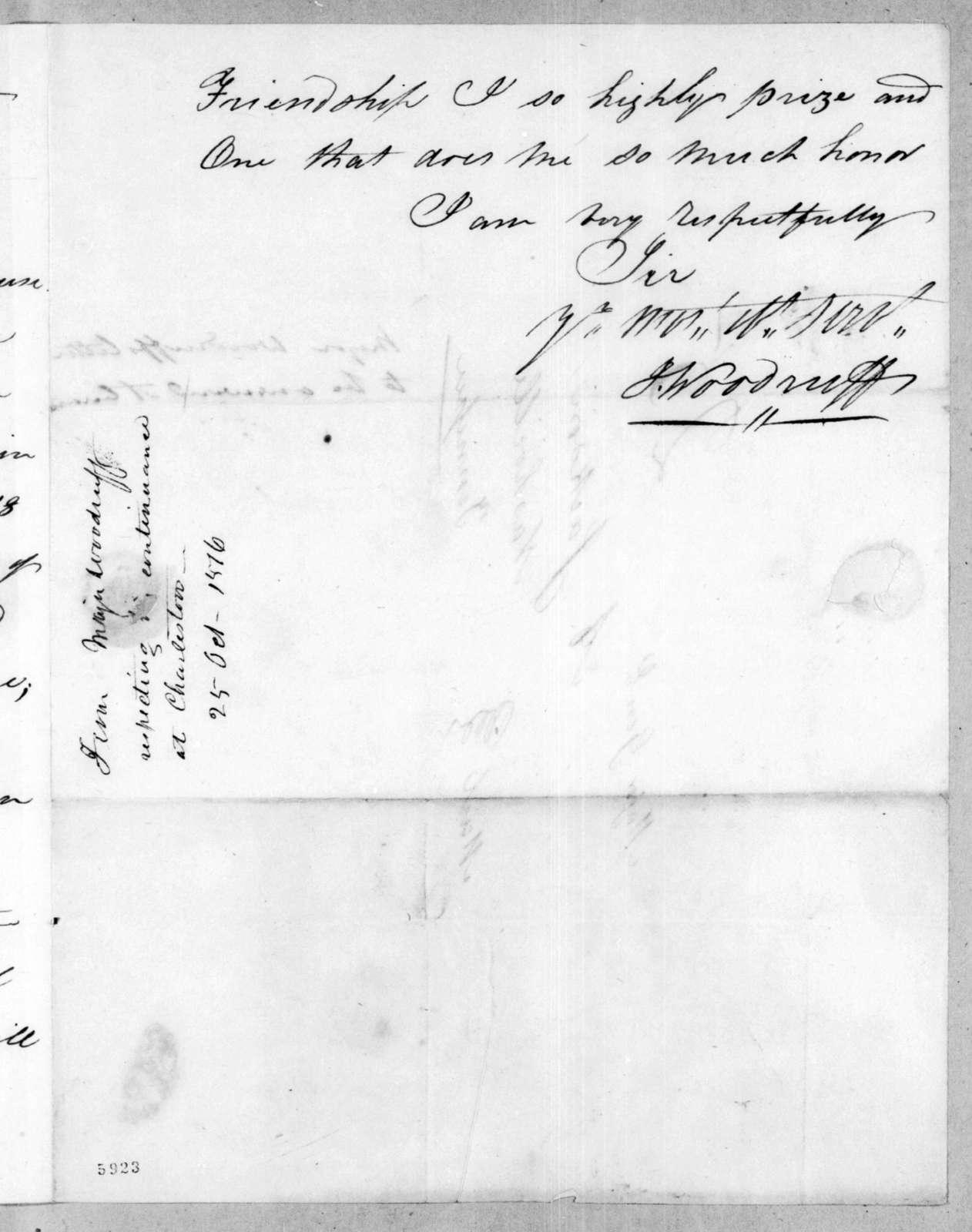 Joseph Woodruff to Andrew Jackson, October 25, 1816