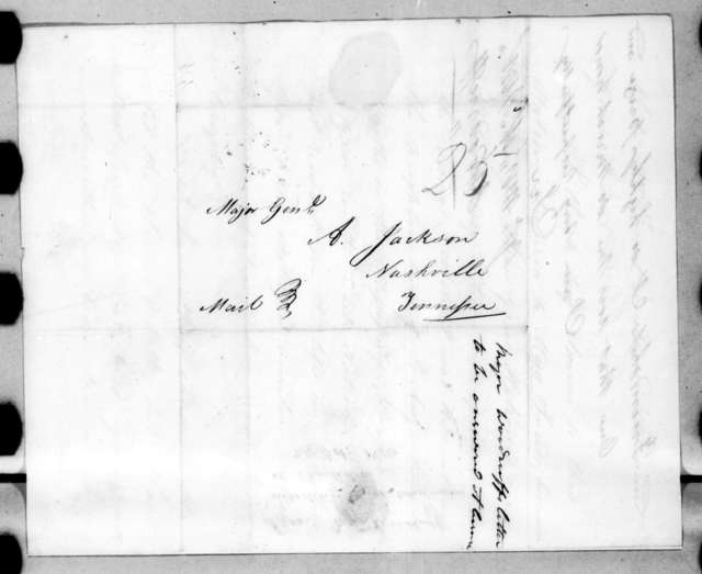 Joseph Woodruff to Andrew Jackson, October 25, 1816