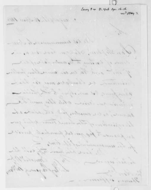 Leroy-Bayard & McCorn to Thomas Jefferson, April 16, 1816
