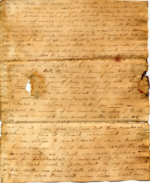 Letter by Mary Ann Corlis to John and Susan Corlis