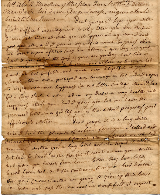 Letter from John and Susan Corlis to Joseph, George and Mary Ann Corlis