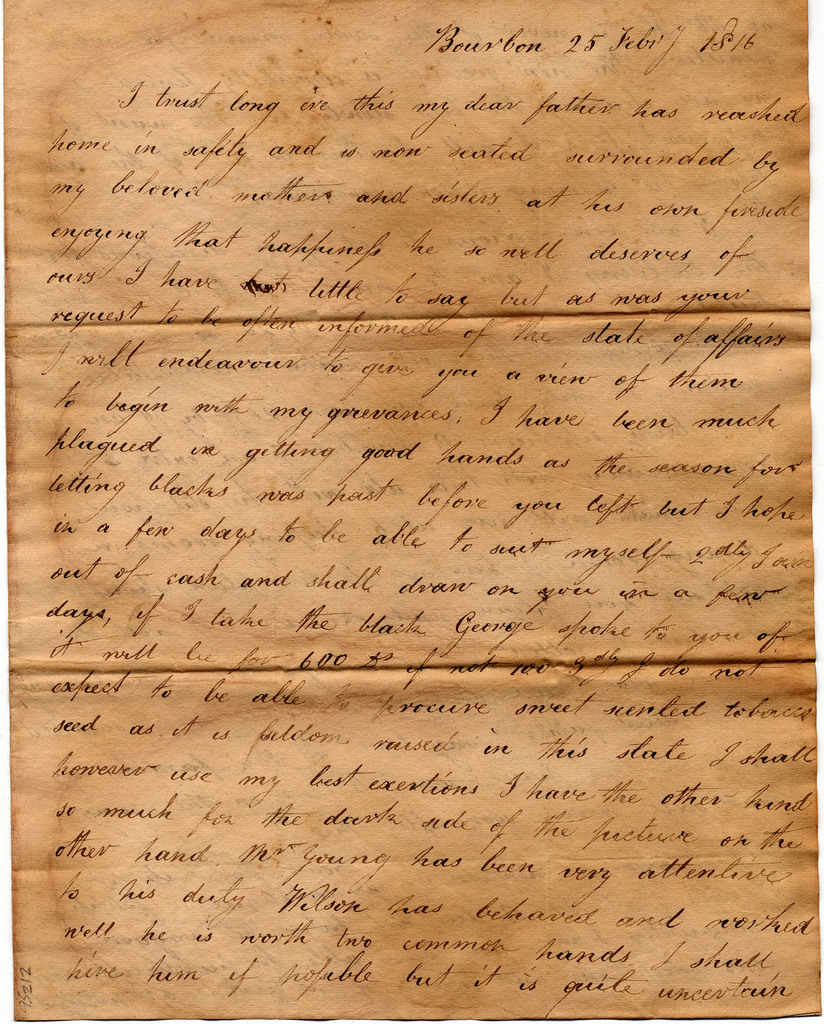 Letter from  Joseph Corlis to John and Susan Corlis