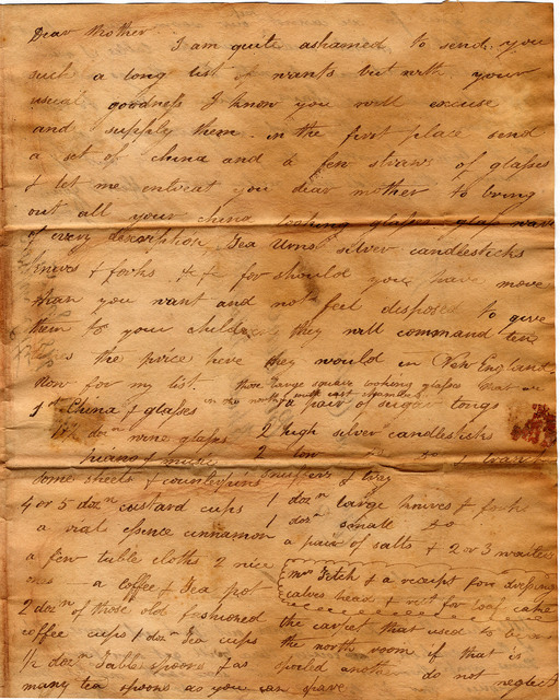 Letter from  Joseph Corlis to John and Susan Corlis