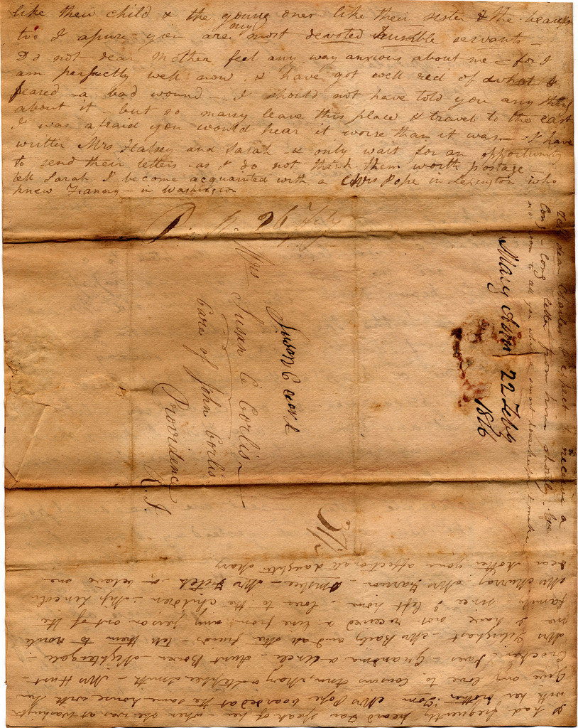 Letter from Mary Ann Corlis to Susan Corlis