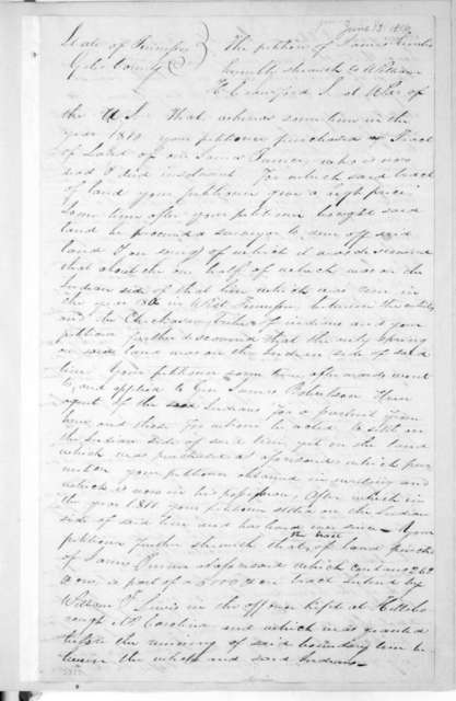 Lonsford M. Bramlitt to William Harris Crawford, June 13, 1816