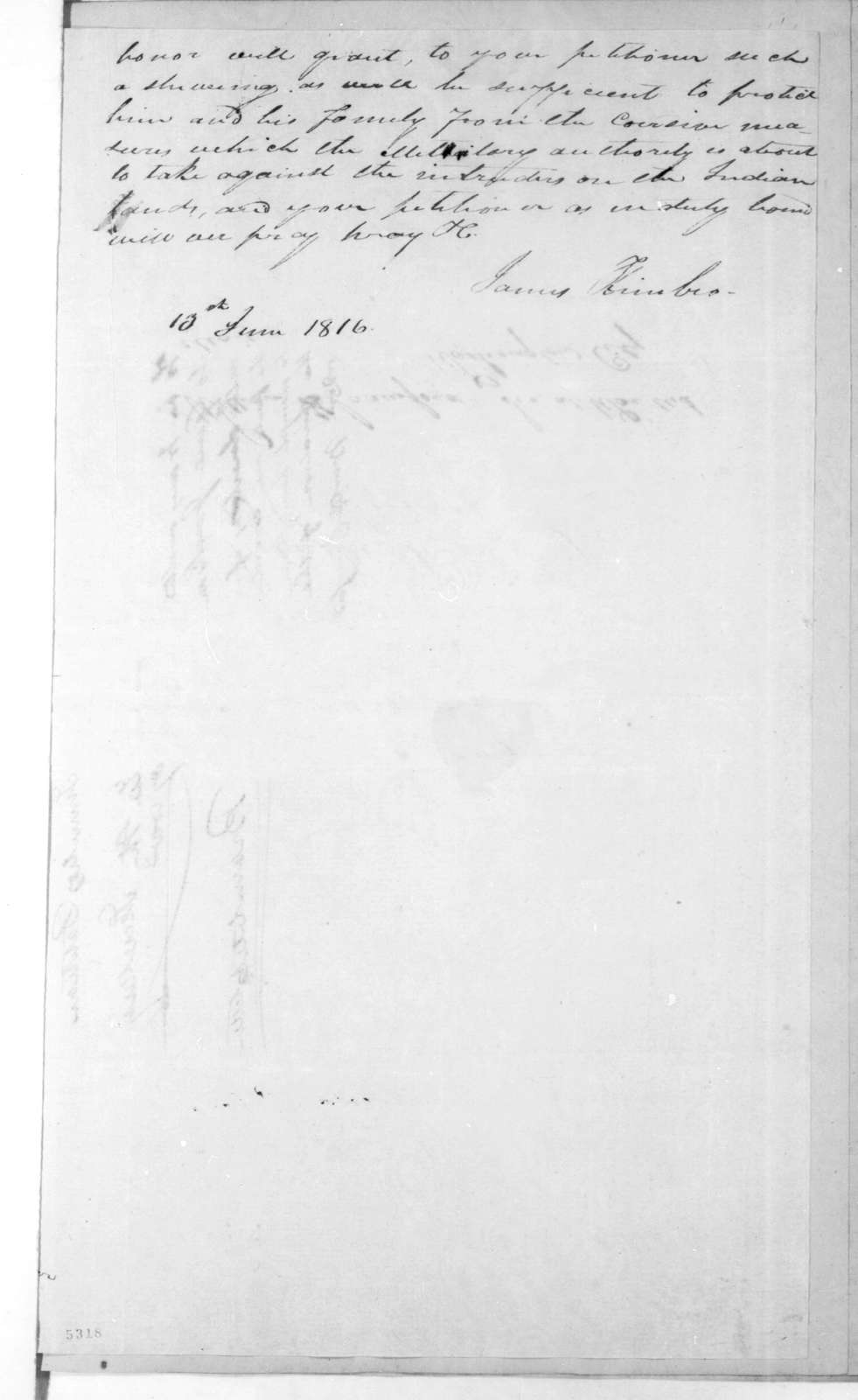 Lonsford M. Bramlitt to William Harris Crawford, June 13, 1816
