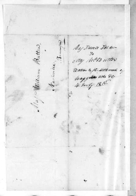 M. L. Hawkins to William Orlando Butler, June 26, 1816
