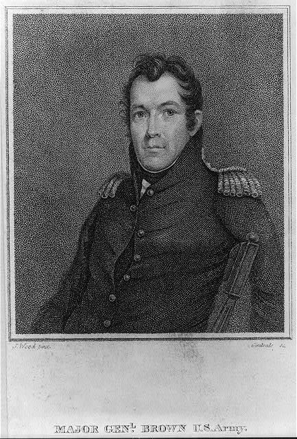 Major Genl. Brown U.S. Army / J. Wood pinx. ; Gimbrede sc.