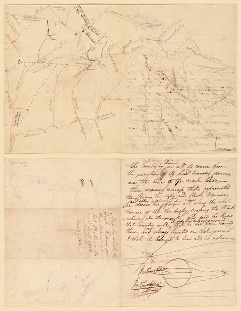 Map by which the Creek Indians gave their statement at Fort Strother on the 22nd Jany, 1816 : [Alabama and Georgia].