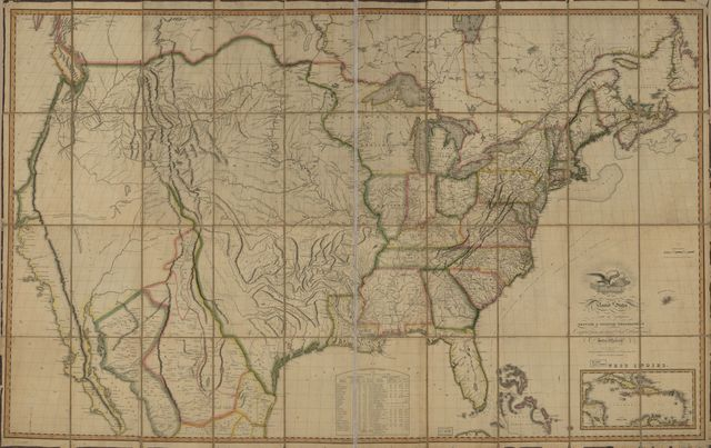 Map of the United States of America : with the contiguous British and Spanish possessions /