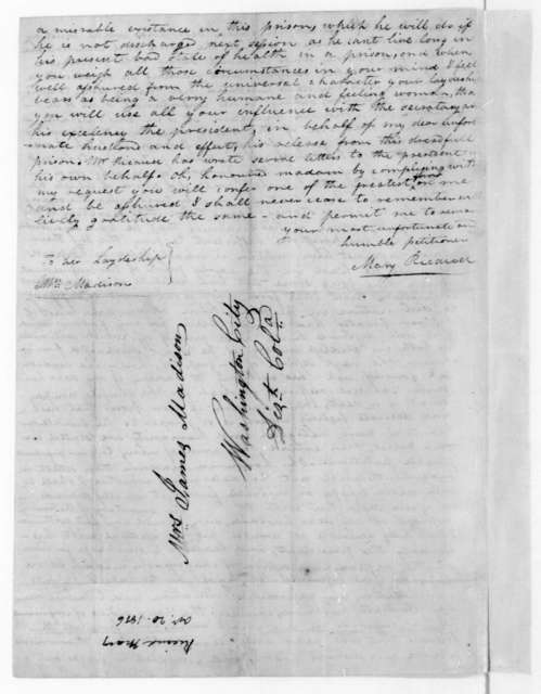 Mary Ricaud to Dolley Payne Madison, October 20, 1816.