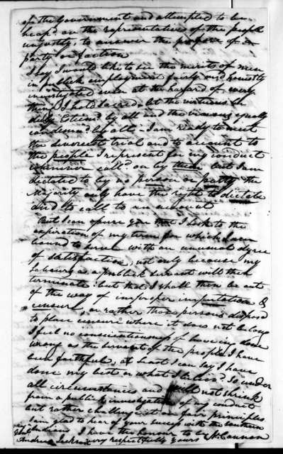 Newton Cannon to Andrew Jackson, November 3, 1816