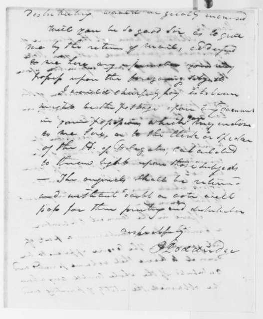 P. Doddridge to Thomas Jefferson, January 17, 1816