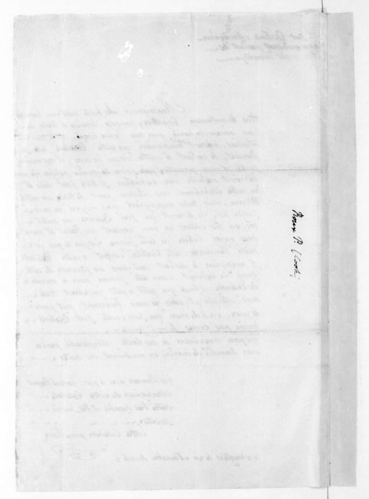 Pierre Roux to James Madison, November 20, 1816. In French.