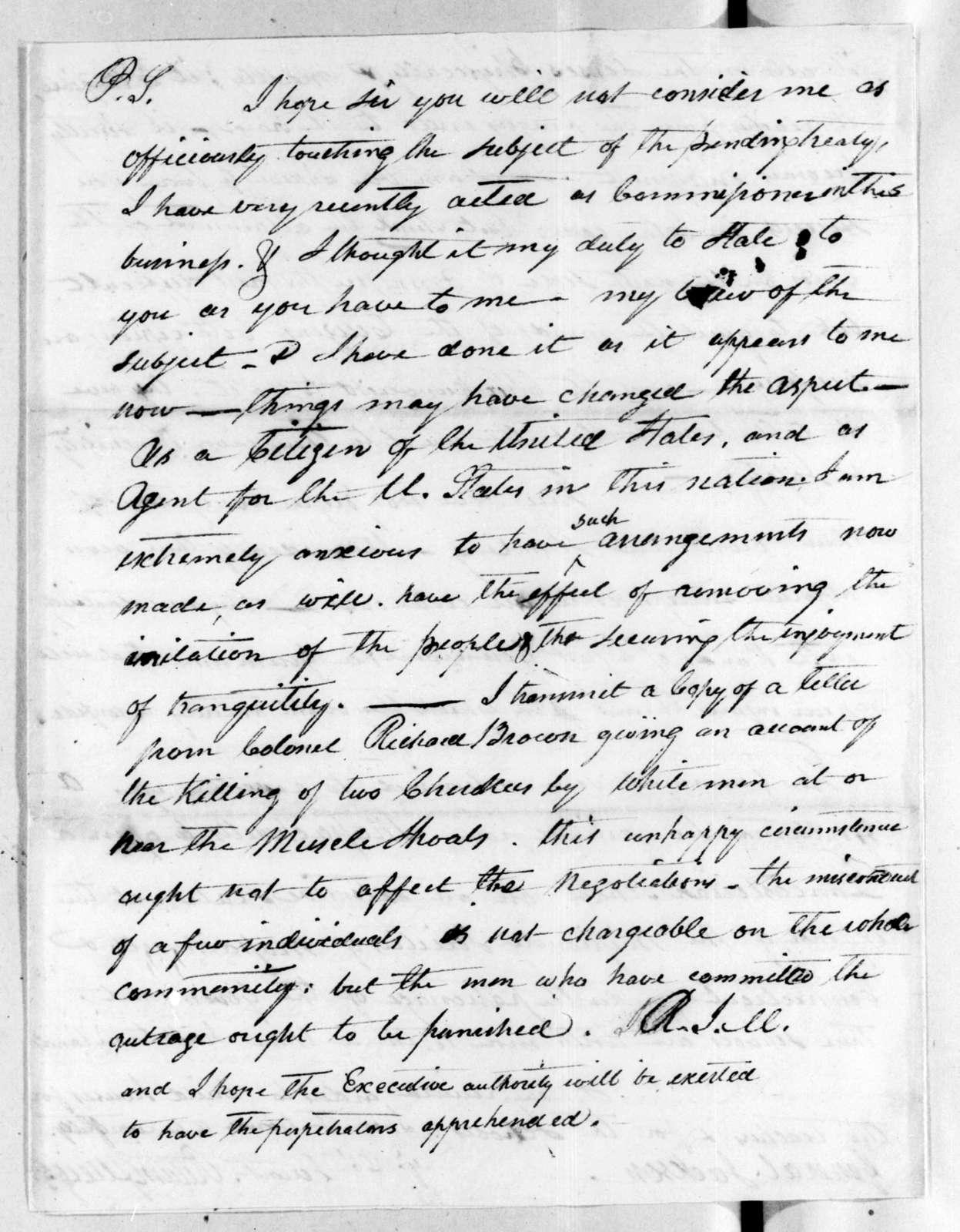 Return Jonathan Meigs to Andrew Jackson, August 19, 1816