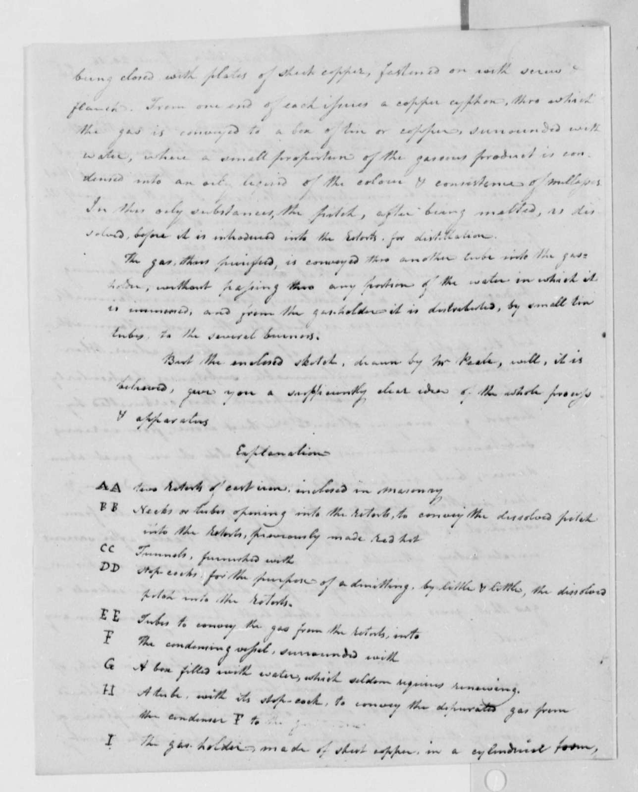 Robert Patterson to Thomas Jefferson, June 20, 1816, with Drawings