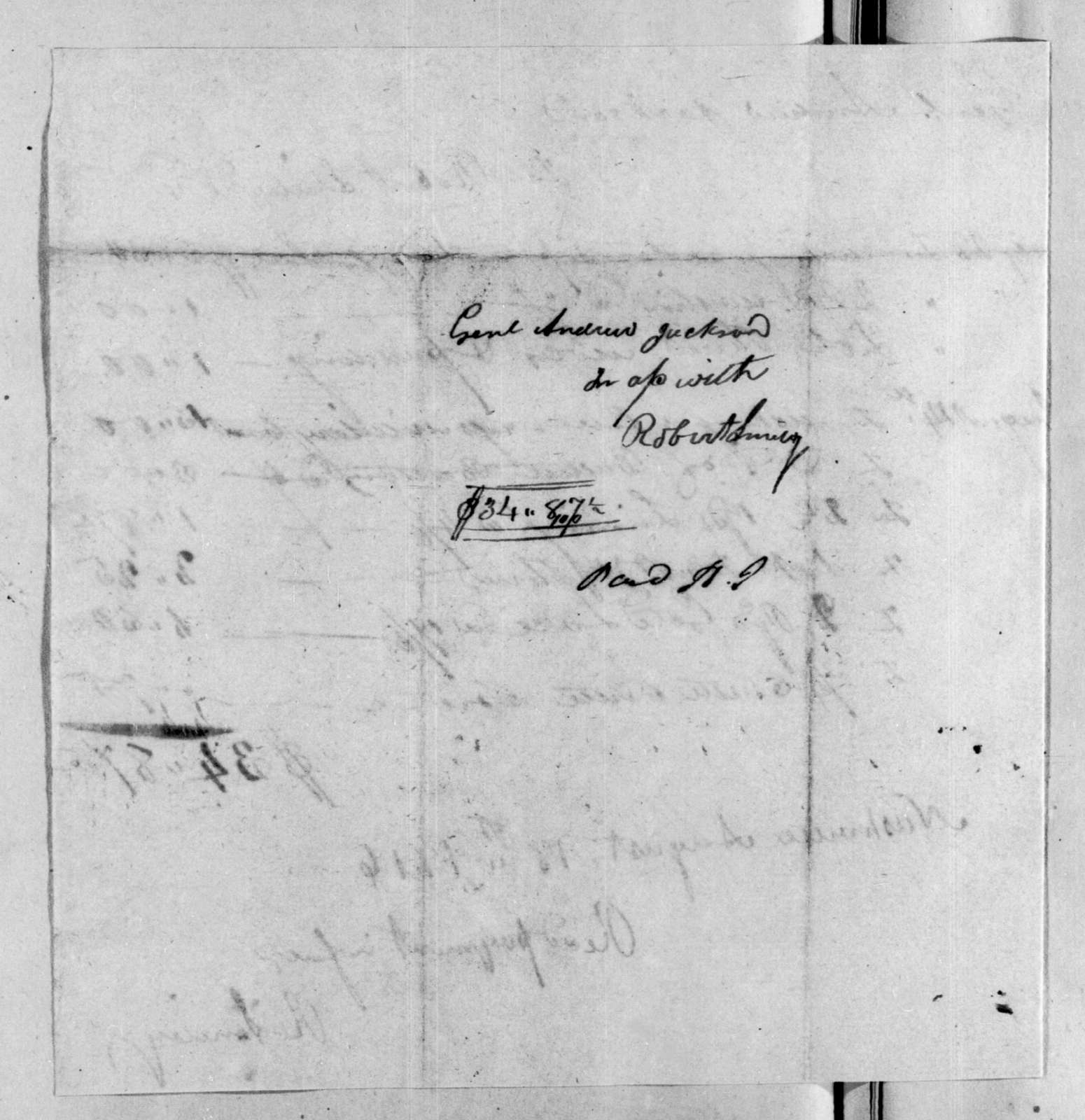 Robert Smiley to Andrew Jackson, August 18, 1816