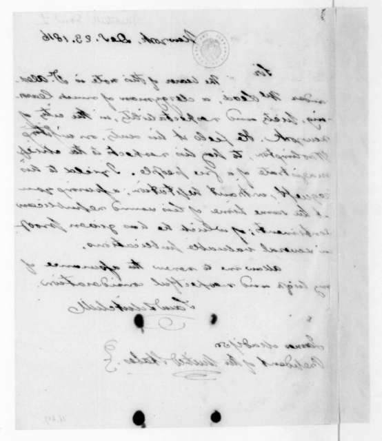 Samuel Mitchill to James Madison, December 23, 1816.