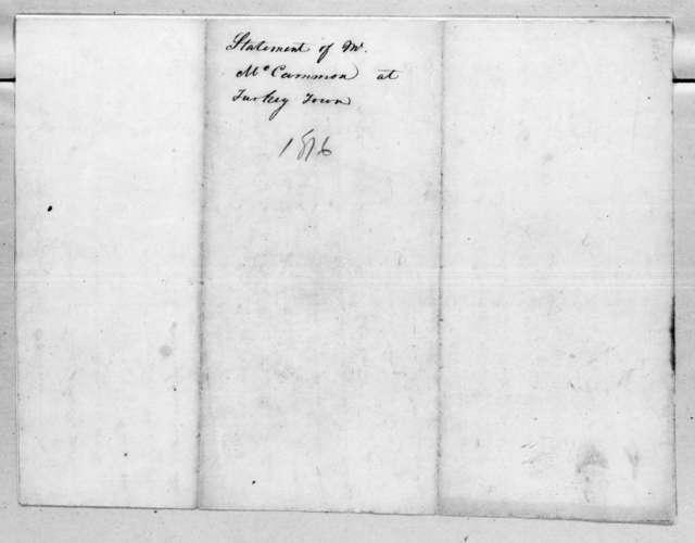 Saul McCarman, October 1, 1816