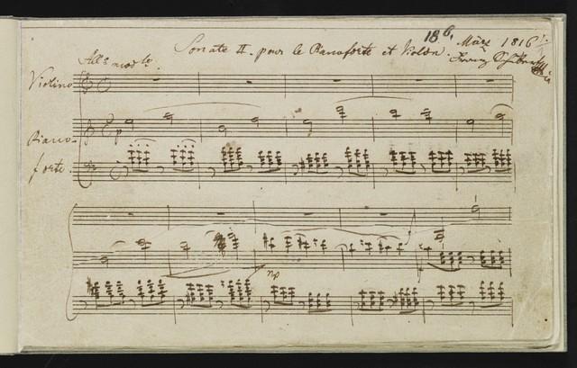 Sonate II. pour le pianoforte et violon