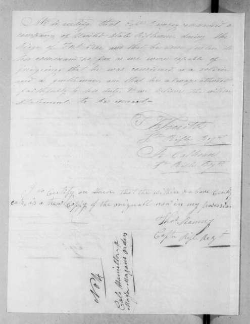 Stoughton Gantt, April 19, 1816