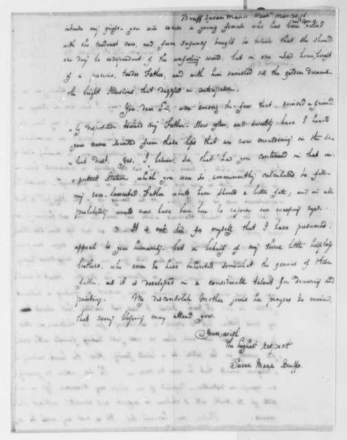 Susan Maria Bruff to Thomas Jefferson, March 31, 1816