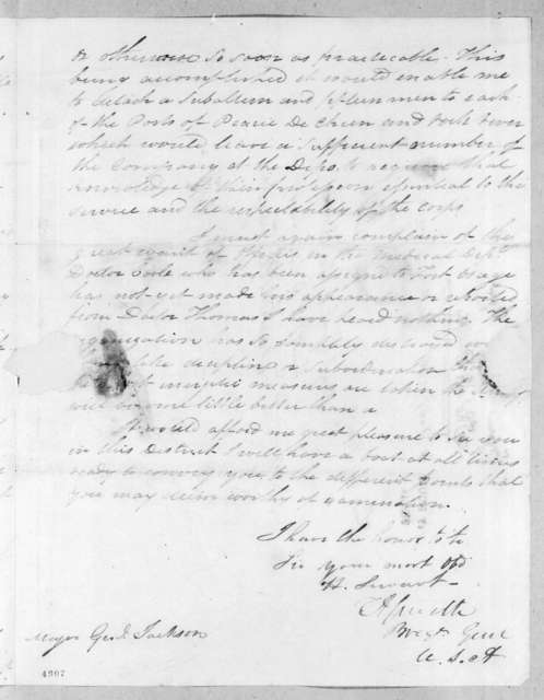 Thomas Adams Smith to Andrew Jackson, February 11, 1816