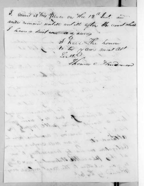 Thomas Carmichael Hindman to Andrew Jackson, May 16, 1816