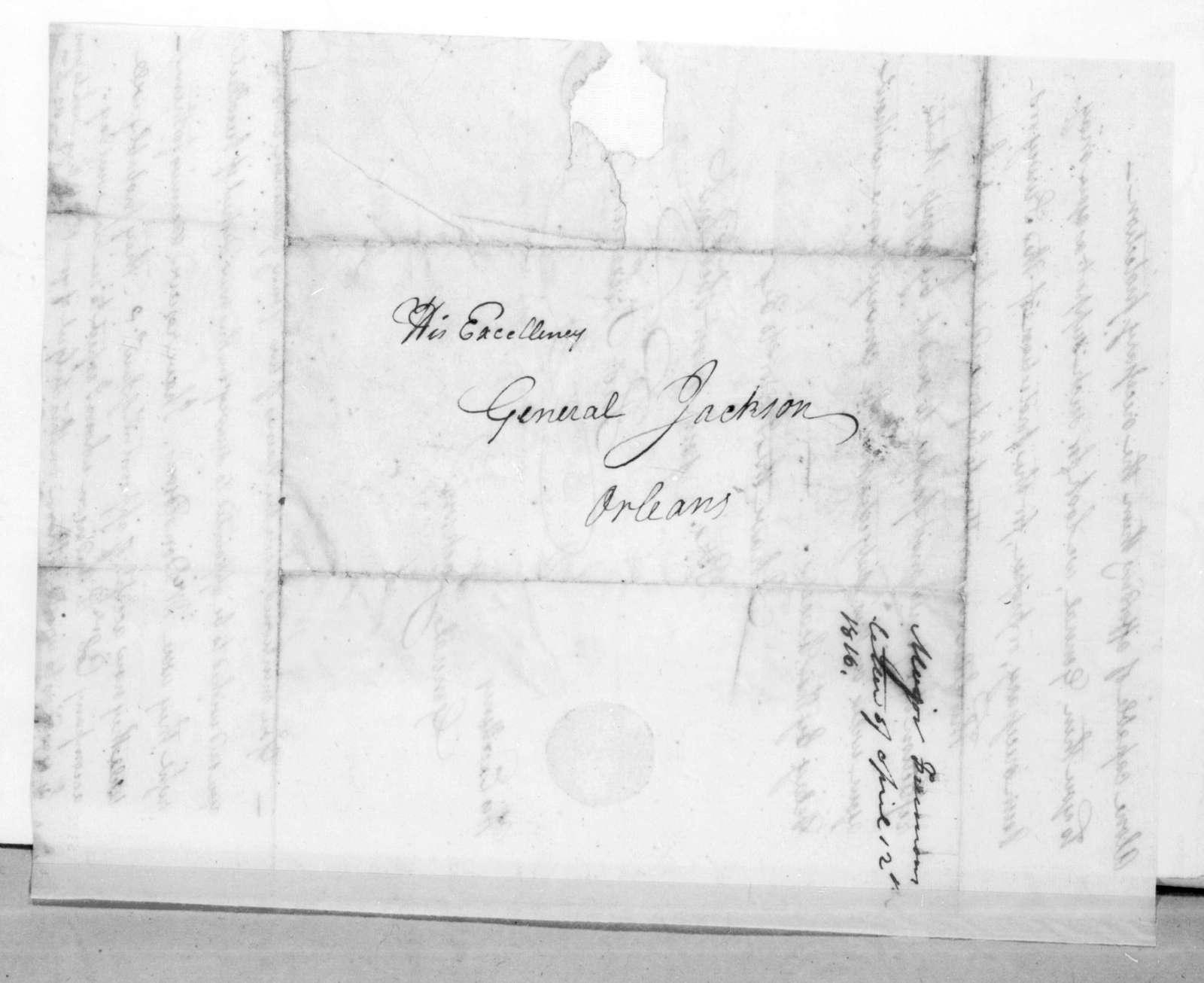 Thomas Freeman to Andrew Jackson, April 12, 1816