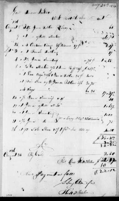 Thomas H. Fletcher to Andrew Jackson, August 24, 1816