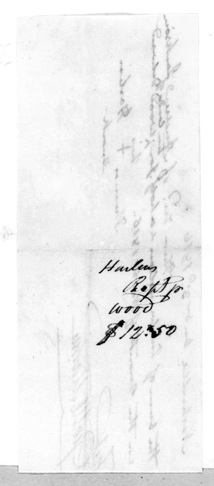 Thomas Harlin to Andrew Jackson, December 3, 1816