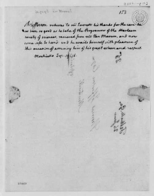 Thomas Jefferson to Alexander Everett, September 19, 1816