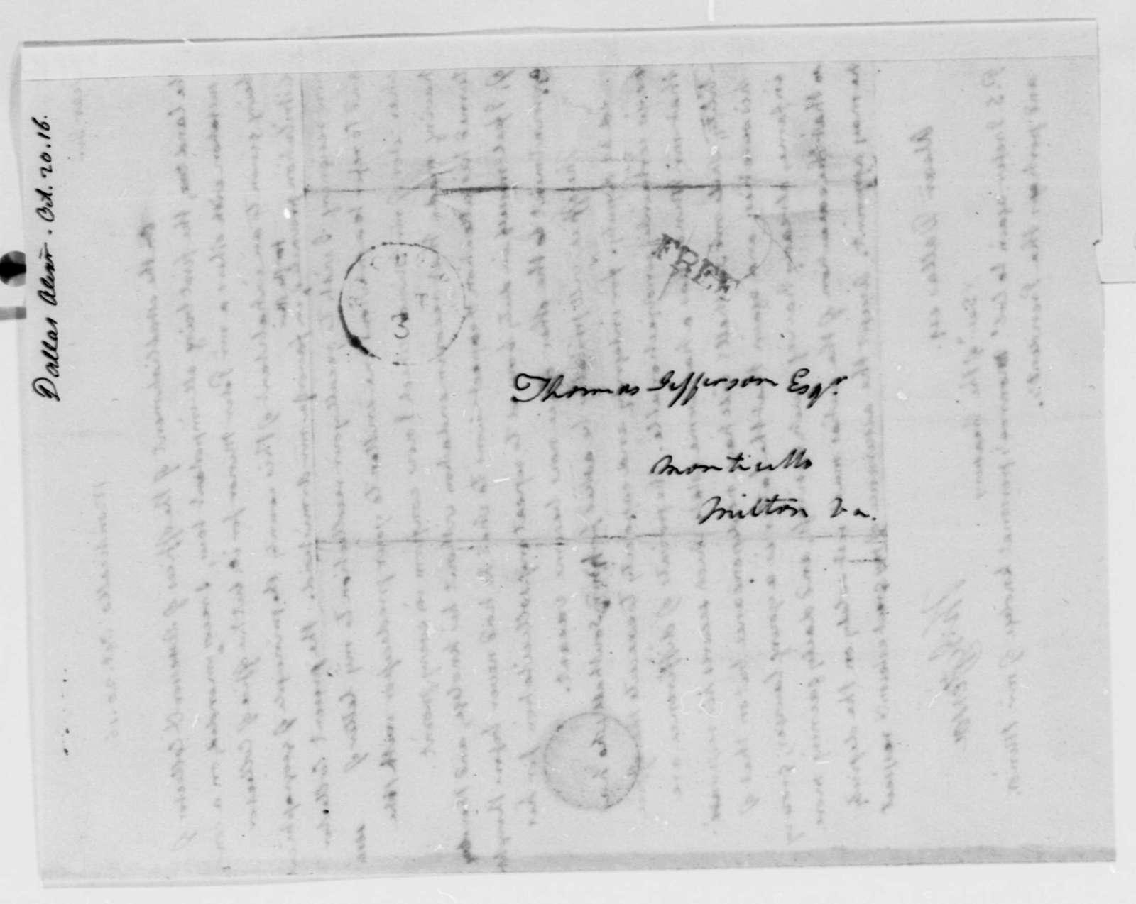 Thomas Jefferson to Alexander J. Dallas, October 20, 1816
