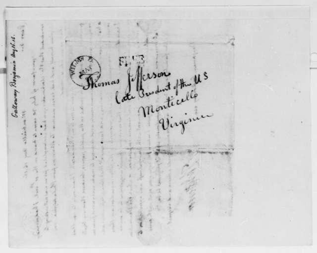 Thomas Jefferson to Benjamin Galloway, August 16, 1816