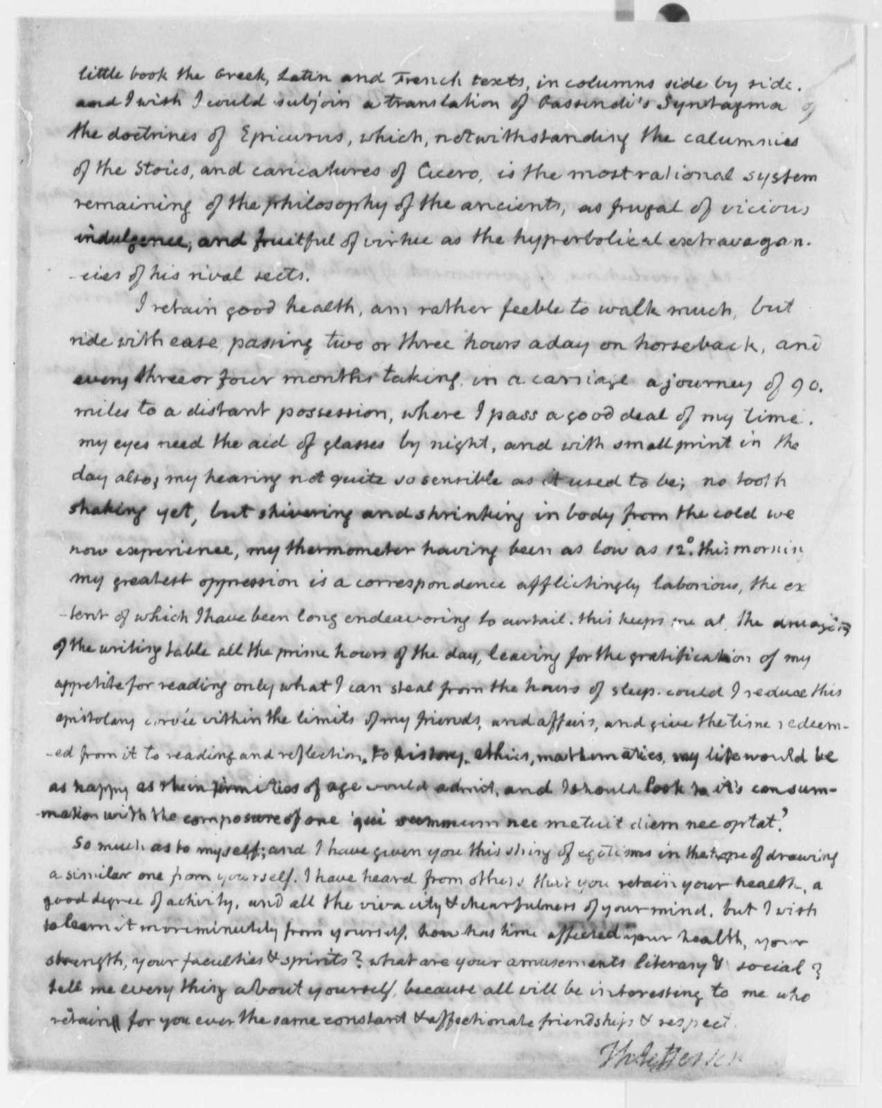 Thomas Jefferson to Charles Thomson, January 9, 1816