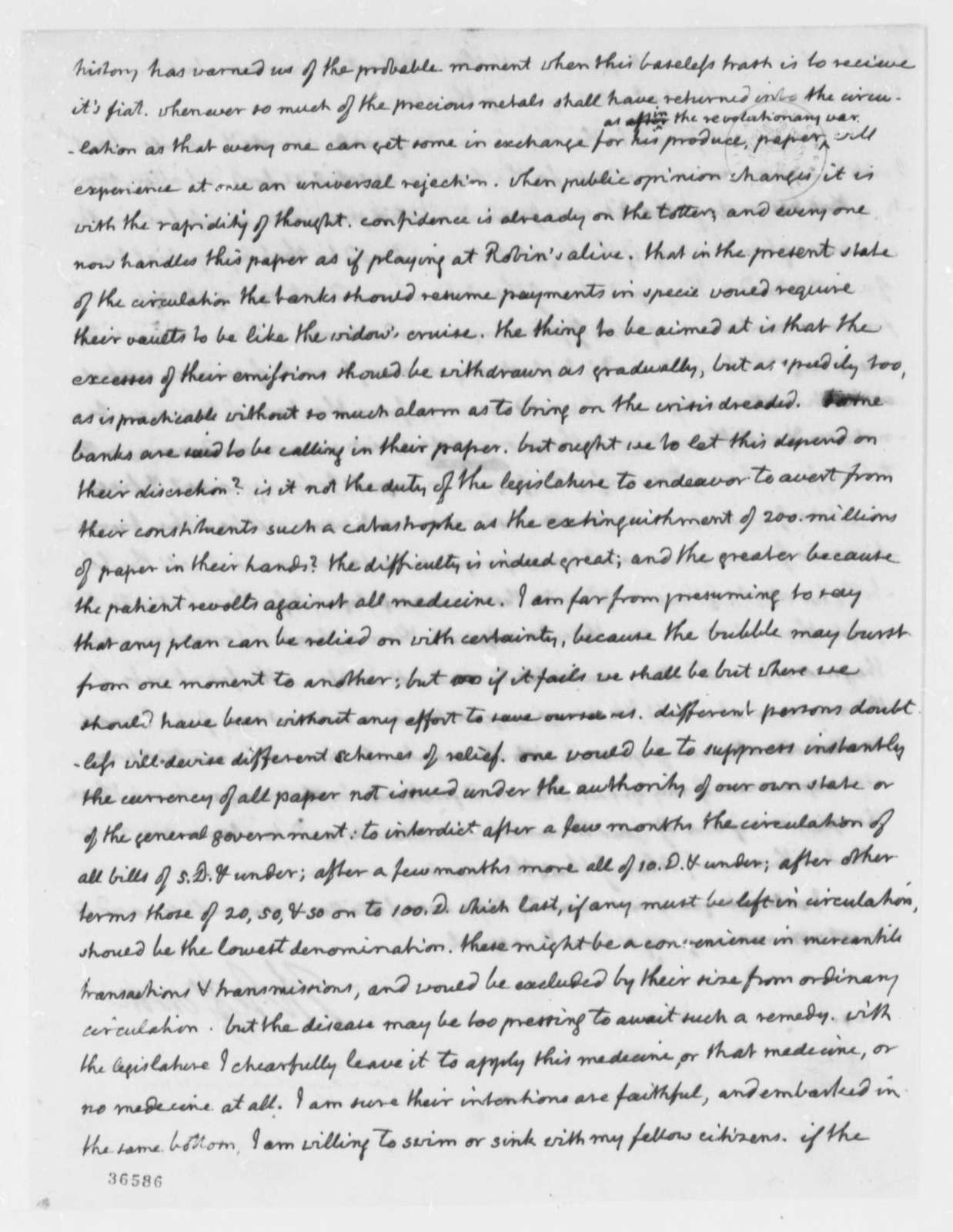 Thomas Jefferson to Charles Yancey, January 6, 1816