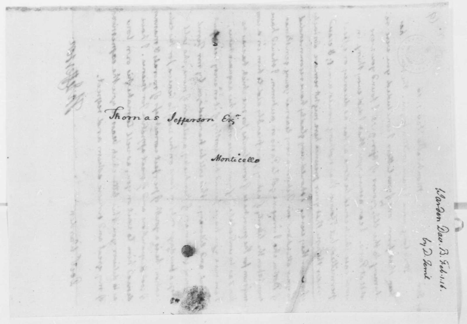 Thomas Jefferson to David B. Warden, February 1, 1816